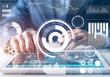 Leinwandbild Motiv Modern computing in business analytics