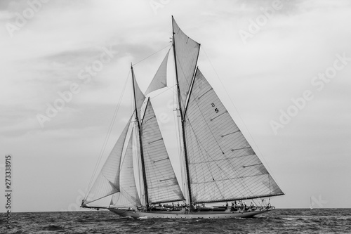 Photo  Vintage yachts race in Barcelona