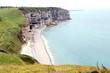 Leinwandbild Motiv Les falaises d'Etretat en Normandie
