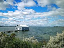 Crawley Edge Boatshed-Blue Boat House, Perth, Australia
