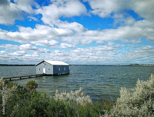 Slika na platnu Crawley Edge Boatshed-Blue Boat House, Perth, Australia