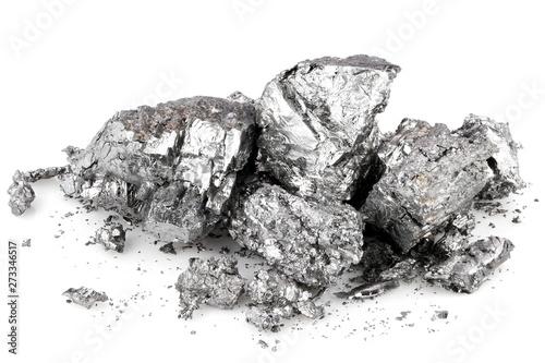 Obraz 99.58% fine beryllium isolated on white background - fototapety do salonu
