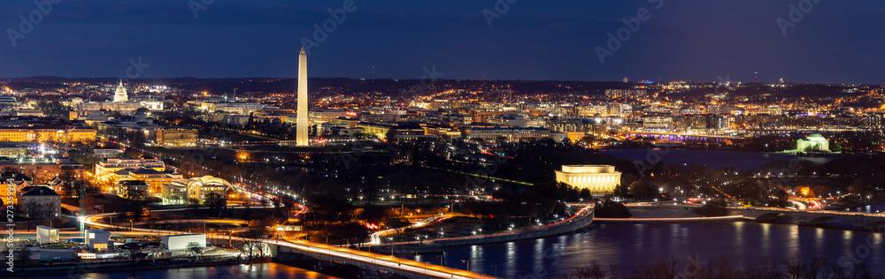 Fototapety, obrazy: Washington DC Aerial panorama