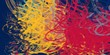 Leinwanddruck Bild - Artistic sketch backdrop material. Abstract geometric pattern. Chaos and random. Modern art drawing painting. 2d illustration. Digital texture wallpaper.