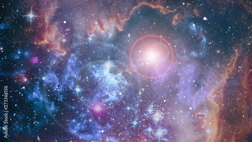 Canvas Prints Nasa Cosmic space and stars, blue cosmic abstract background. Elements of this image furnished by NASA.