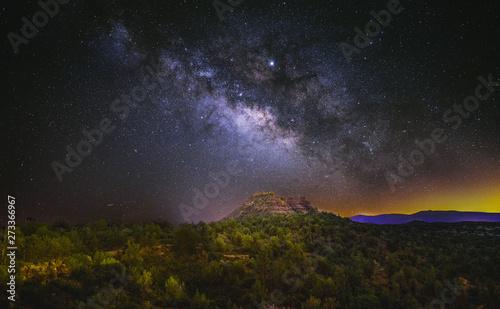 Milky Way over Cockscomb Canvas-taulu