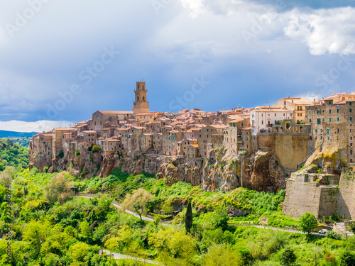 Fototapety, obrazy: Stunning  view of Pitigliano, picturesque mediaeval town in Tuscany, Italy