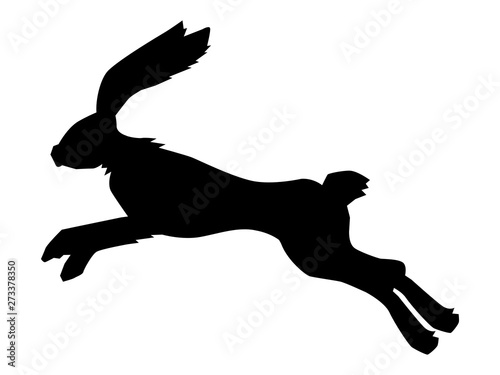 Tablou Canvas silhouette of jumping hare