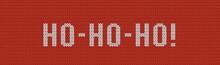 Knitting HO-HO-HO Banner. New ...