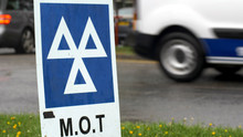Blue MOT Service Sign On Briti...