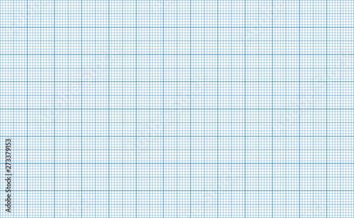 Foto auf Leinwand Künstlich Millimeter grid. Square graph paper background. Seamless pattern. Vector illustration