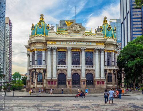 The Theatro Municipal (Municipal Theatre) is an opera house in the Centro district of Rio de Janeiro, Brazil Wall mural
