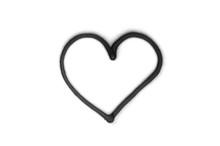 Graffiti Heart Sign Sprayed On White Isolated Background