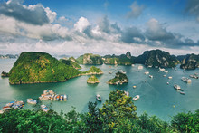 Panorama Of Ha Long Bay In Vie...