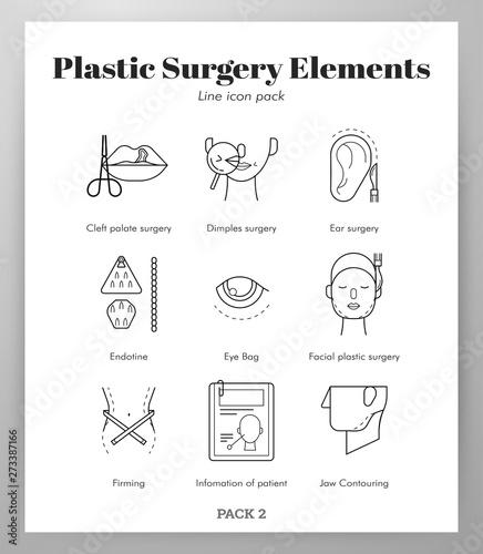 Valokuva  Plastic surgery elements Line pack