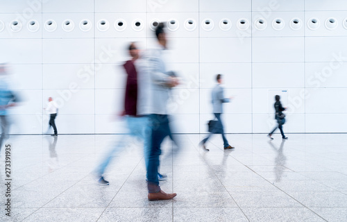 Fototapety, obrazy: blurred people at a trade fair