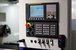 CNC machine control panel close up