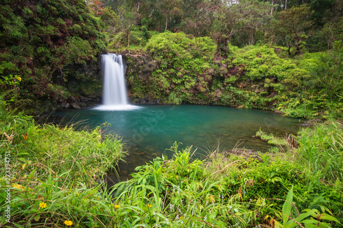 Photo Long expo shot of Puaa Kaa Falls at mile 22 along Road to Hana, Maui, Hawaii, US