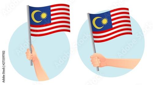 Cuadros en Lienzo  Malaysia flag in hand icon