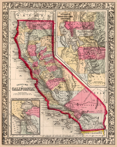 Map Of California Bay Area.Map Of California Shows Counties And San Francisco Bay Area Detail