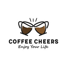 Coffee Cheers Simple Logo Design