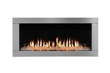 Burning Gas Fireplace Isolated On White Background