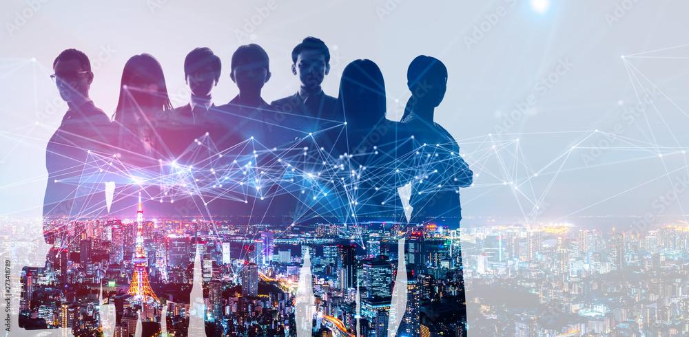 Fototapety, obrazy: ビジネスネットワーク