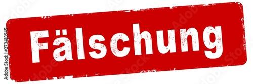 nlsb518 NewLongStampBanner nlsb - german text - Fälschung: Stempel / einfach / r Billede på lærred