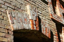 The Walls Of The Brick Building Of The Factory Of The Early 20th Century