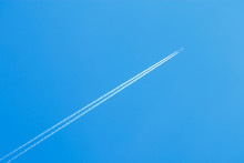 Jet Airplane Flying At High Al...