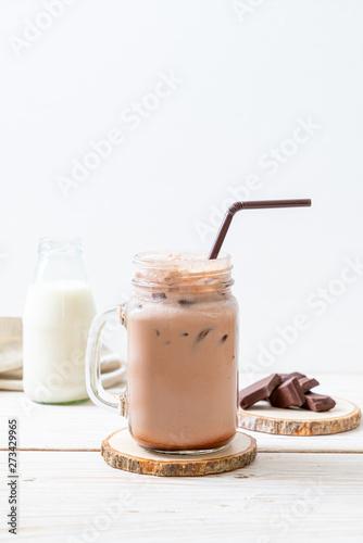 In de dag Milkshake Iced chocolate milkshake drink