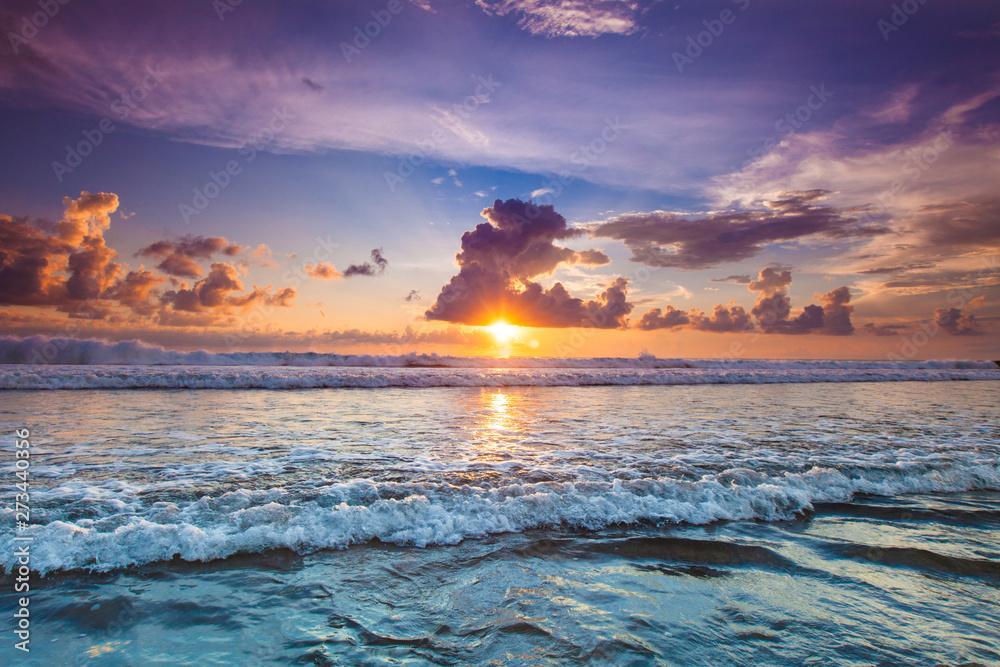 Fototapety, obrazy: Radiant sea beach sunset