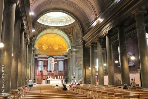 Fotografie, Obraz Ville de Lyon - Eglise Saint Pothin inaugurée en 1843 - Intérieur