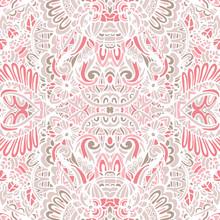 Cute Pink Abstract Arabesque E...