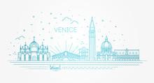 Venice City, Illustration. Vec...