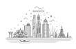 Thailand and attractions to Bangkok landmarks. Vector