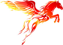 Flaming Pegasus Leap, Mythical...