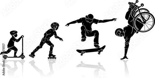 Fotomural Skateboard Extreme Evolution