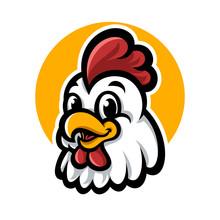 Chicken Head Mascot