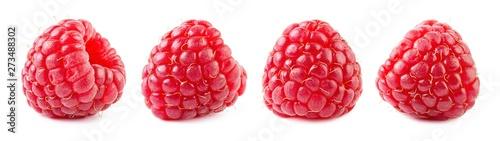 Raspberries isolate set Fototapete