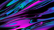 Abstract shapes, holographic, fluid and liquid colors, trendy gradients 3d render