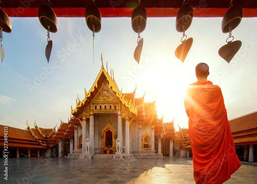Spoed Foto op Canvas Bangkok Marble Temple of Bangkok