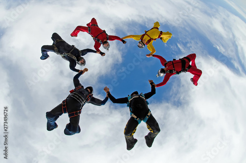 Sky dive team work low angle view #273496726