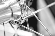 Bicycle Front Wheel With Spokes