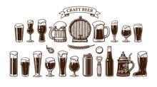 Big Vintage Set Of Beer Object...