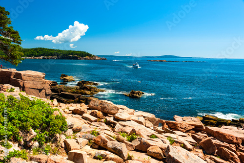 Poster Cote Acadia National Park is a stunning national treasure on the coast of Maine in the USA.
