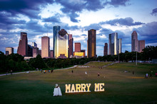 Marriage Proposal In A Park In Houston