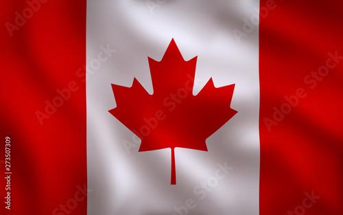 Fotografie, Obraz  Canadian Flag Image Full Frame