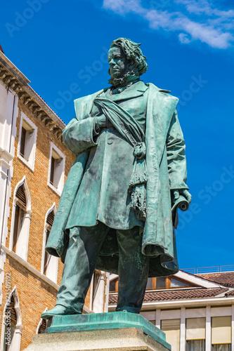 Statue of Italian patriot Daniele Manin from 1875, by Luigi Borro in Venice, Ita Poster Mural XXL