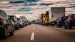Rettungsgasse auf der Autobahn in Deutschland